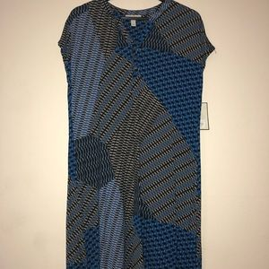 Kohl's multi pattered blue dress.